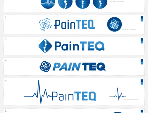 Client Archive : Pain Teq : Branding, Logo Design, Web Development, Marketing Materials,  Medical Device Catalog Illustration